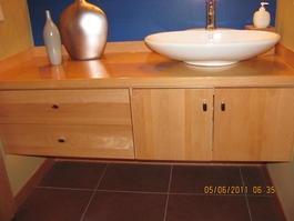 German steamed beech custom bathroom